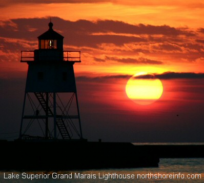 Grand Marais Lighthouse Lake Superior